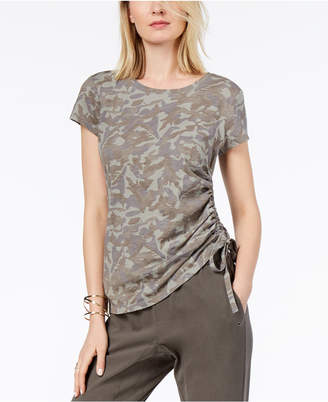INC International Concepts I.N.C. Cotton Camo-Print T-Shirt, Created for Macy's