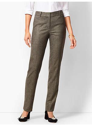 Talbots High-Waist Straight-Leg Lined Wool Pant - Sparkle