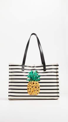 Kate Spade Canvas Pineapple Mega Sam Tote