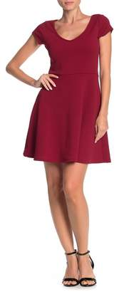 THREADS AND STATES Textured Fit & Flare Dress