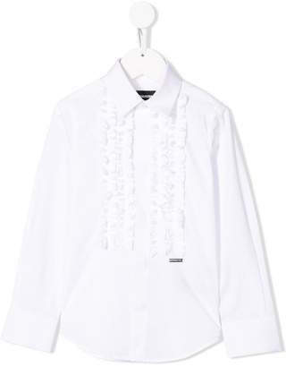 DSQUARED2 ruffle-trimmed shirt