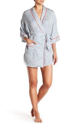 Nordstrom Room Service Satin Short Robe