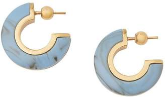 Burberry Marbled Resin Gold-plated Hoop Earrings