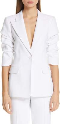 Michael Kors Ruched Sleeve Blazer