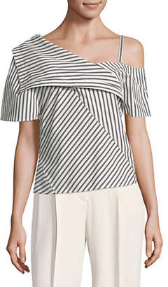 Theory One Shoulder Foldover Top