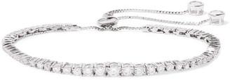 Kenneth Jay Lane - Rhodium-plated Cubic Zirconia Bracelet - Silver $165 thestylecure.com