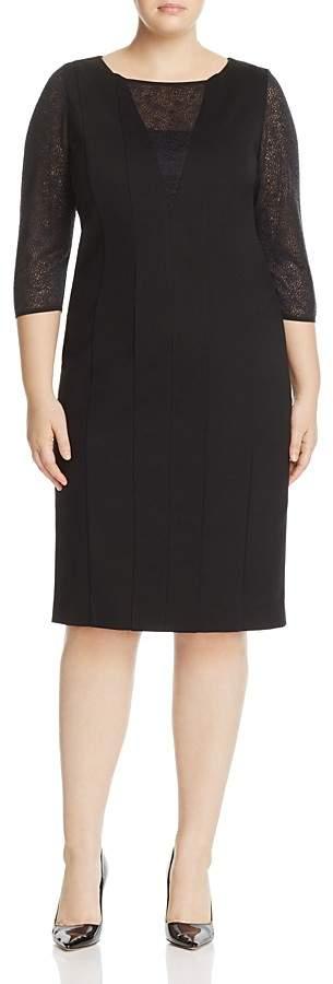 Marina Rinaldi Ogivale Lace-Inset Dress