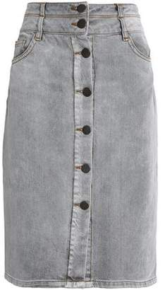 Maje Faded Denim Skirt