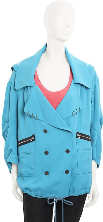 Alexander Wang Finished Coat - Turquoise