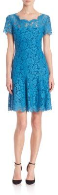 Diane von Furstenberg Fifi Short Sleeve Lace Dress $398 thestylecure.com