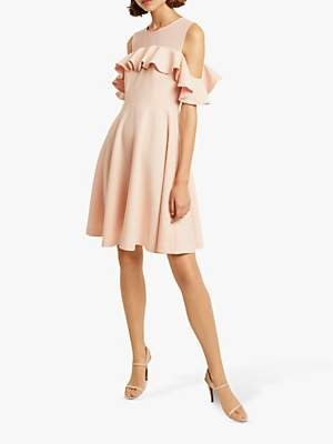 3730ac22b6b French Connection Alissia Flare Cold Shoulder Dress