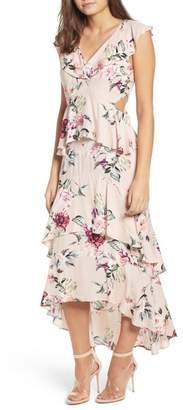Leith Ruffle High\u002FLow Maxi Dress