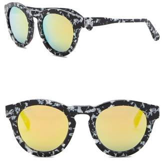 DIFF Dime Round Keyhole Bride 46mm Acetate Sunglasses