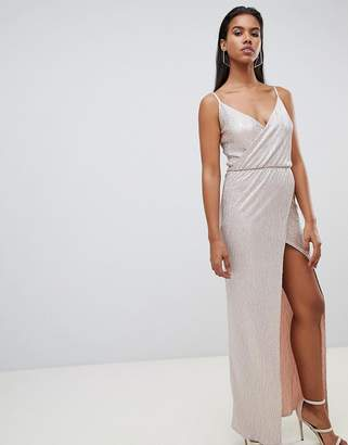 Rare London spagetti wrap maxi dress