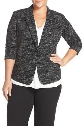 Vince Camuto Jacquard Knit One-Button Blazer (Plus Size) $179 thestylecure.com