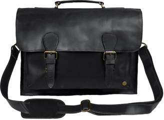 Mahi Leather Leather Messenger Satchel Bag In Ebony Black