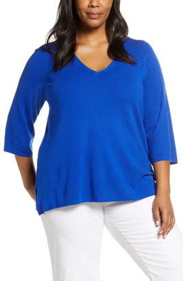 Eileen Fisher V-Neck Merino Wool Top