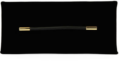 Tom Ford Tom Ford Ava Velvet Pochette Clutch Bag, Black