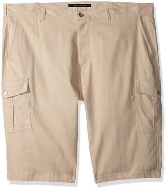 Sean John Men's Tall Size Solid Linen Cargo Shorts