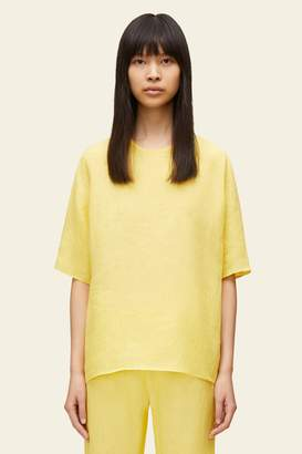 Mansur Gavriel Linen Short Sleeve Blouse