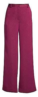 Stine Goya Women's Luca Metallic High-Waist Wide Leg Trousers