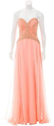 Jovani Embellished Strapless Gown