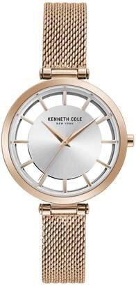 Kenneth Cole New York Women's Rosetone Mesh Watch