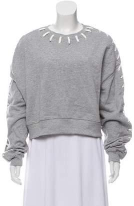 Jonathan Simkhai Lace-Up Crew Neck Sweater