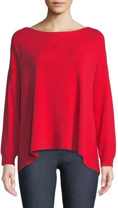 Alice + Olivia Olivia Drop-Shoulder Tie-Back Sweater