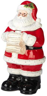 Certified International Holiday Wishes 3-D Santa Cookie Jar