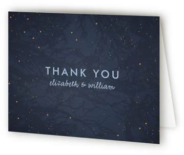 Night In The Forest Thank You Cards