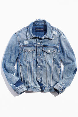 Calvin Klein Prime Blue Foundation Denim Trucker Jacket