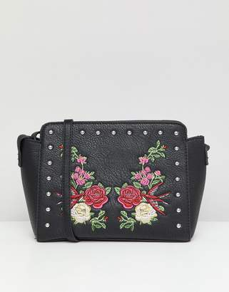 Park Lane Embroidered Floral Across Body Bag