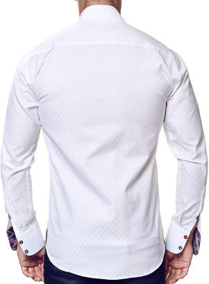 Pan Am Maceoo Shaped-Fit Panam Long-Sleeve Sport Shirt, White