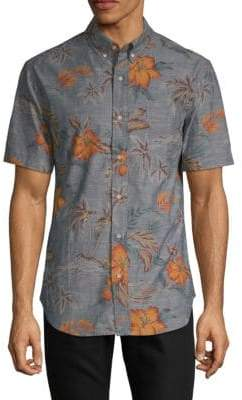 Reyn Spooner Coco De Hermanos Tailored Cotton Button-Down Shirt