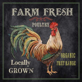 Laurèl Foundry Modern Farmhouse 'Farm Fresh Rooster' by Jean Plout Graphic Art on Wrapped Canvas