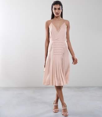 Reiss Daria Eyelet Detail Dress