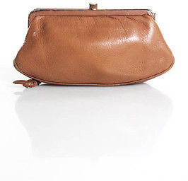 Bottega Veneta Bottega Veneta Light Brown Leather Coin Purse Small Clutch Handbag