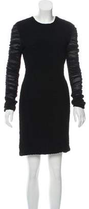 Alexander Wang Silk Ruffle-Paneled Dress w/ Tags