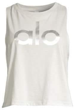Alo Yoga Signature Logo Tank