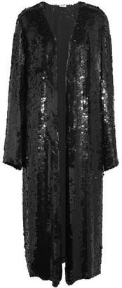 Attico - Dara Sequined Georgette Midi Dress - Black