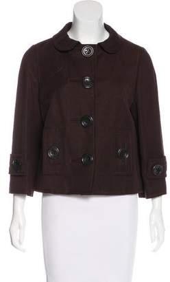 Andrew Gn Linen & Virgin Wool Jacket