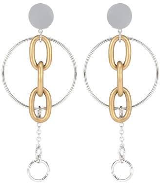 Miu Miu Clip-on drop hoop earrings