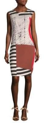 Milly Modern Midi Sheath Dress