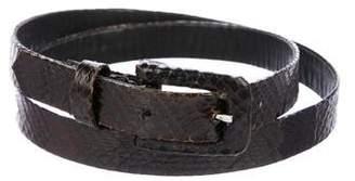 Oscar de la Renta Snakeskin Skinny Belt