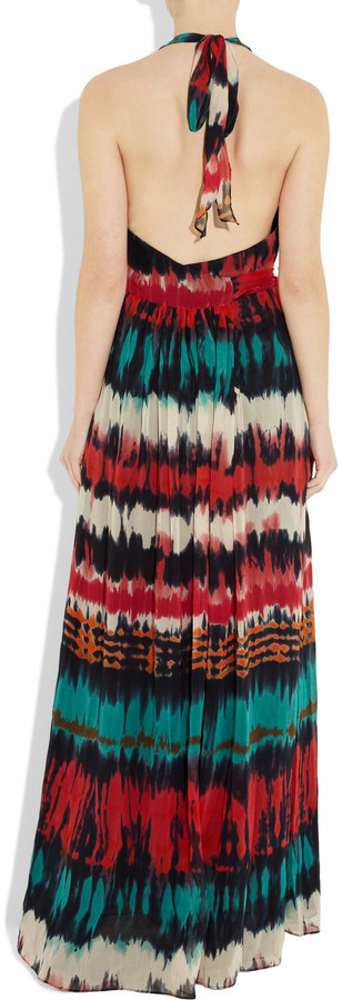 Milly Gustavia printed cotton-blend maxi dress
