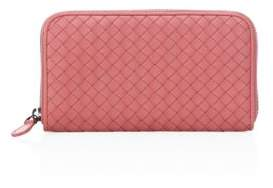 Bottega Veneta Bottega Veneta Woven Zip-Around Wallet