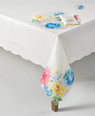 "Homewear Beauchamp Floral Cutwork 60"" x 120"" Tablecloth"