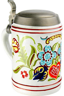 One Kings Lane Vintage Floral Beer Stein/Canister