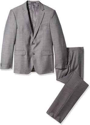 Kenneth Cole New York Men's Pin Dot 2 Button Side Vent Suit